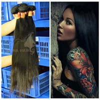 2015 new large stock peruvian virgin hair 7a remy straight weave packs 20inch