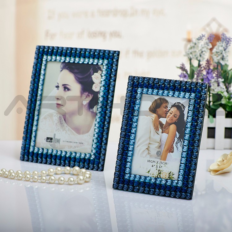 Fashion Sublimation Thick Curved Glass Photo Frame