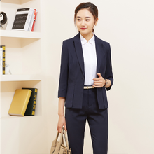 Fashion design tailor made office lady coat pant uniform