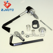 "Made in China motorcylce parts Universal 7/8"" Silver CNC Plastic Motorcycle System Protect Levers Pro Lever Guard ZJMOTO"