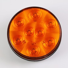 4 Inch amber round LED turn park light truck trailer rear lights led