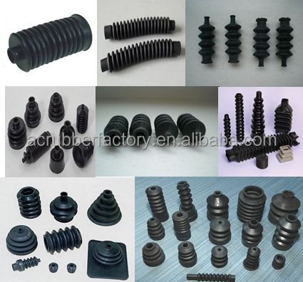 customized rubber flexible pipe connector Corrugated Moulded rubber bellow for dust proof rubber dust protector