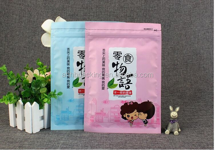 FDA food grade stand up transparent salt packaging bags with zipper