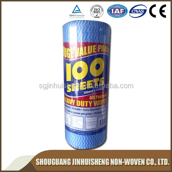 600Series Disposable Spunlace Nonwoven Fabric Industrial Wipes Roll