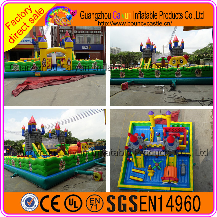 Extreme!!! Fun City Park Inflatable Kids Games For Sale