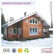 High Quality Villa Prefabricated Log Cabin KPL-018 Wooden House