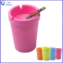 Large Capacity Candy Color Fashion Plastic Car Ashtray with Cup Holder