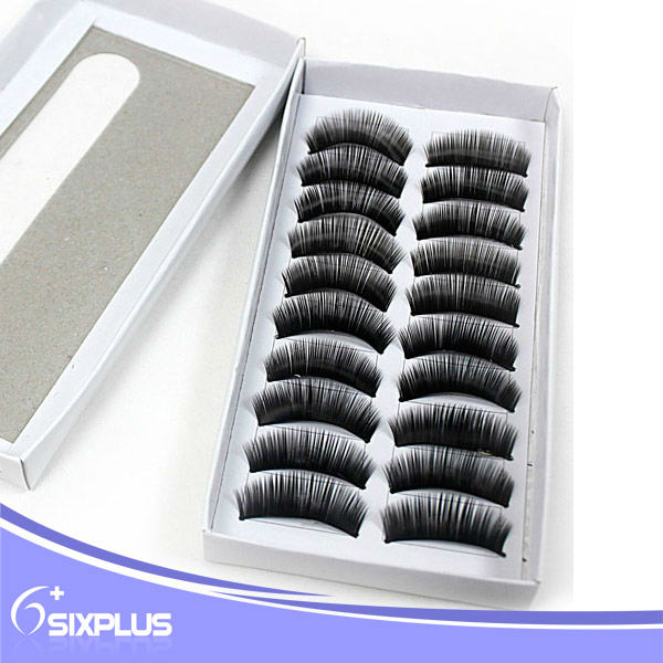 Cheap sale thick black retail false eyelashes