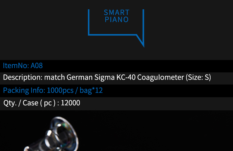 Cuvettes match with German Sigma KC-40 Coagulometer(Size:small)