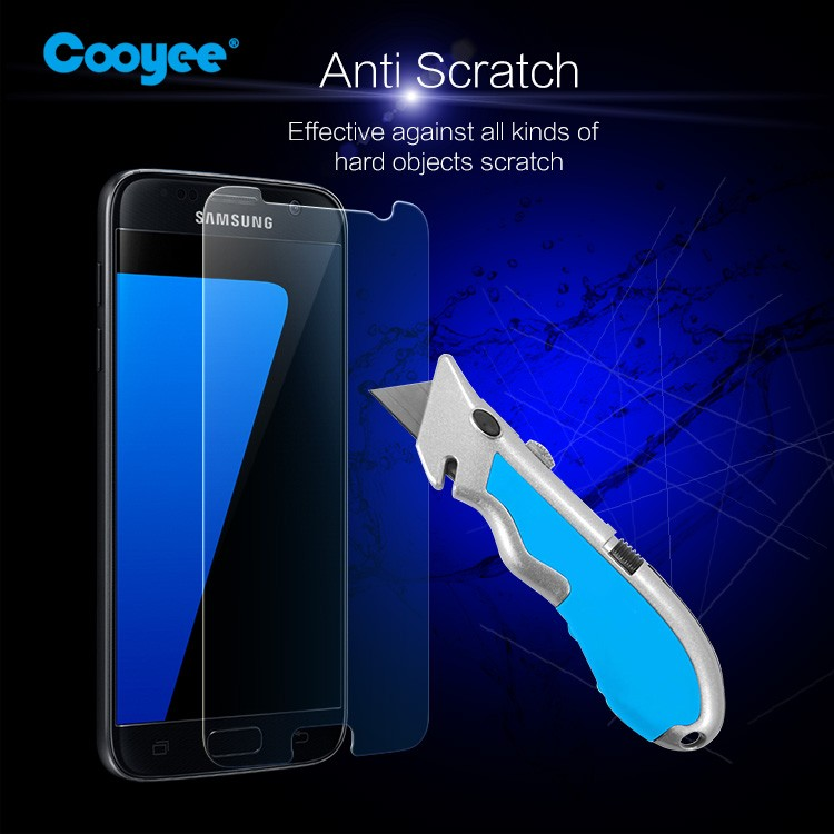Good material!! 9H nano coating asahi Tempered Glass Screen Protector for Samsung galaxy S7