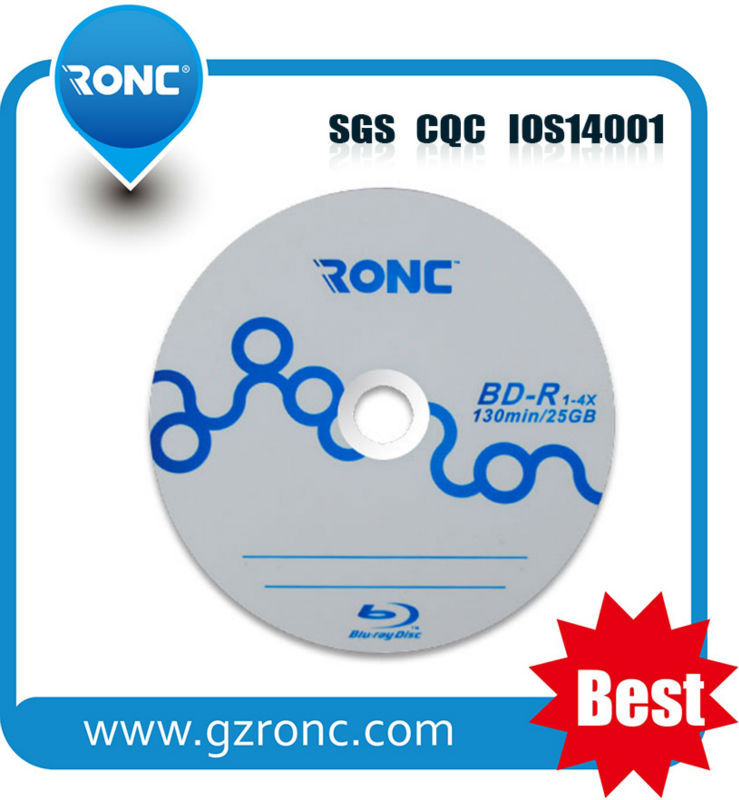 Guangzhou BD-R 50GB Blue ray/BD/ BDR 4X/6X 10PCS PACK