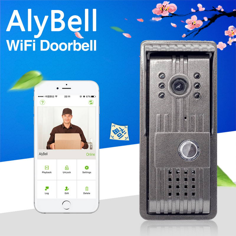 Smartphone/tablet app 8M night vision infrared wifi long range wireless video intercom