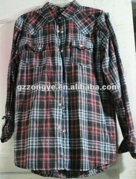 Our factory provide apparel OEM Service, manufacture for western cowboy plaid shirt