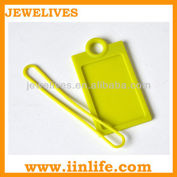 Silicone sport football luggage tag buckle strap