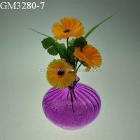 2014 Hot Sale Small Purple Glass Flower Vase