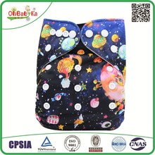 Ohbabyka Hot Sale OEM AIO bamboo cloth Diapers Wholesale Reusable Baby Washable Diapers