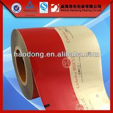 China factory custom 1000m length heat sealable bopp film with food grade material