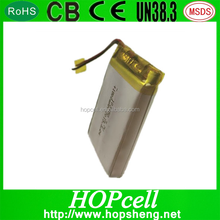 Recharge Deep Cycle Lithium Polymer Battery Li ion Battery 103450 1800mAh 4.2V with PCM