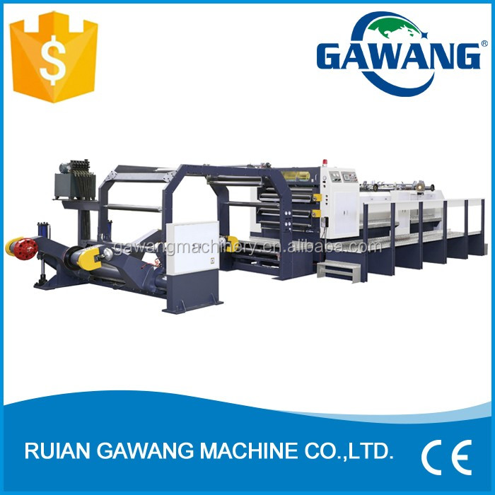 Auto Tension Wall Paper Roll Paper Sheeter And Cutter Machine Supplier