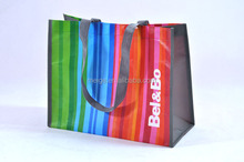 BSCI audit factory purple shopping bags/oilcloth shopping bags/shopping bag
