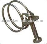 two wires hose clamp(screw:G8.8)