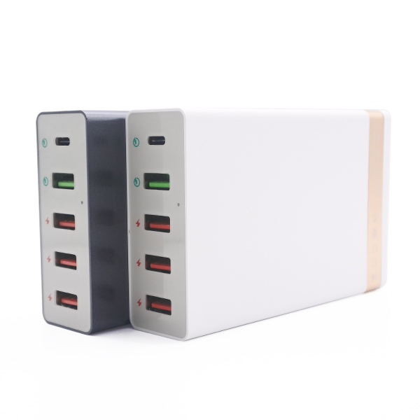 Alibaba 5 USB Multi-function Charger Adapter Intelligent USB Fast Charger