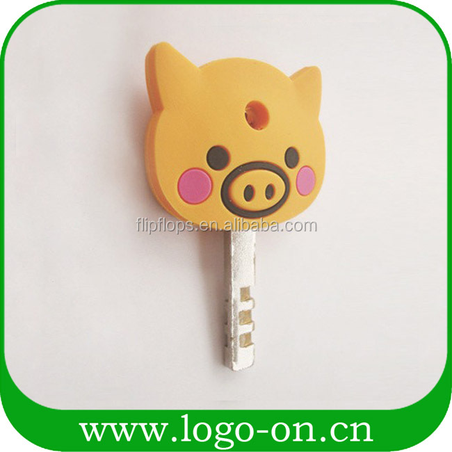 Personalized soft pvc key cover cap