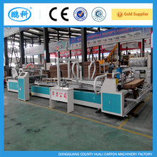 folder gluing corrugated cardboard machine , automatic corrugated cardboard folder gluer machine