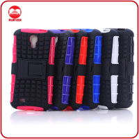 Protective Rugged Impact Armor 2 in 1 Snap On Hard PC TPU Kickstand Hybrid Combo Unbreakable Case for Samsung Galaxy S4