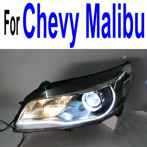 Factory direct bixenon projector lens led headlight assembly for Chevy Malibu