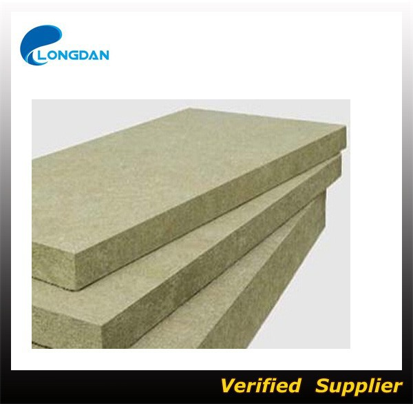80kg/m3 CE cert Acoustic and heat insulation wall board mineral wool rock wool slab