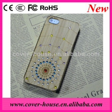 Shenzhen Bling bling 3D Spider case for iPhone 4G/5G Bamboo material PC cover for mobile phone