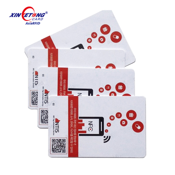 NFC card with rewritable NT-AG215 chip for Nintendo games