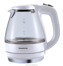 1.5L White color old-fashioned Cordless Electric Glass Water Kettle with color changing