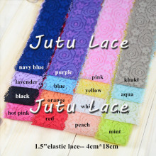 4CM width lace elastic by piece for Hair/garment/head accessory
