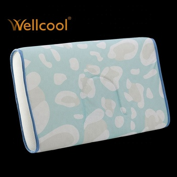various printed air mesh 3d fabric supporting air mesh pillow