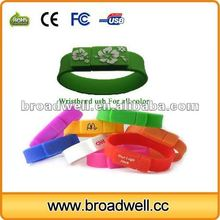 Host Selling Silicone Wristband USB Flash Drive For Kids