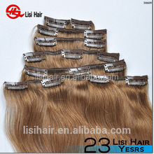 2015 new arrival fashion style tangle and shedding free wholesale brazilean hair extension for white people real hair clip in ex