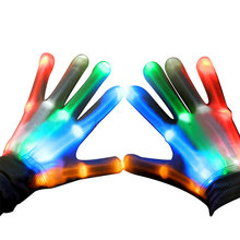 Gift Items Glow In The Dark Light Up LED Skeleton Hand Gloves For Party Christmas Child Gifts
