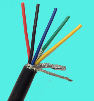 2 core 26AWG UL2725 shielded PVC cable USB signal data cable 300V 80C