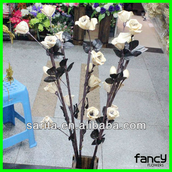 factory direct sale high quality artificial dried rose flowers for decoration