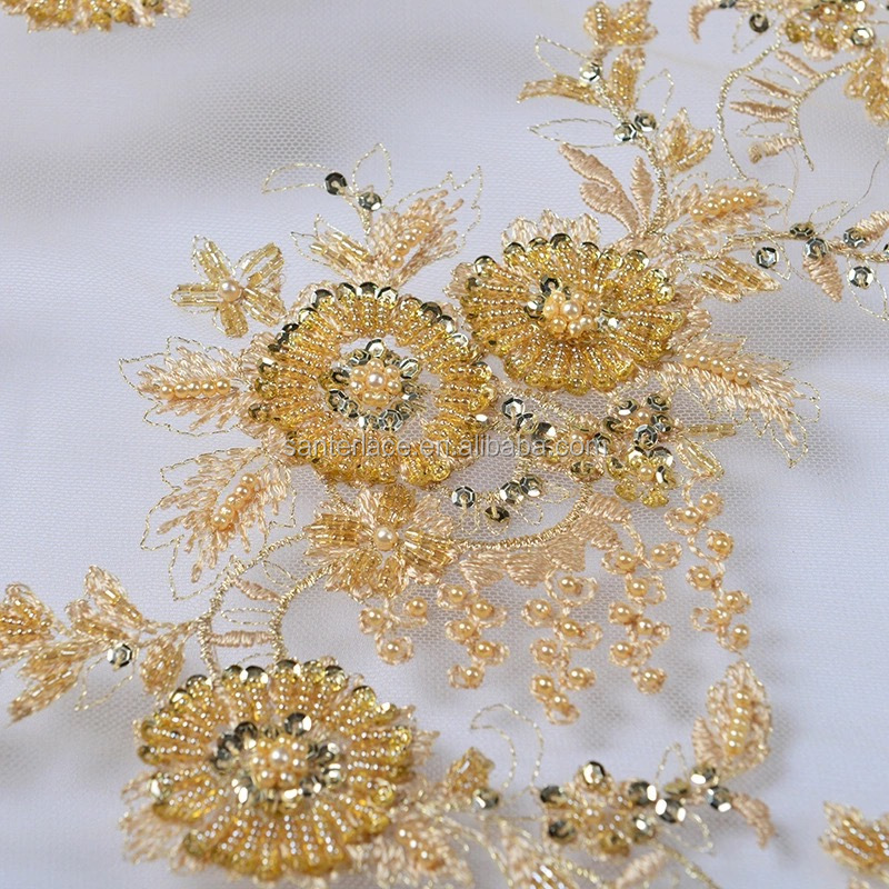 African cheap embroidery lace fabric dubai bridal