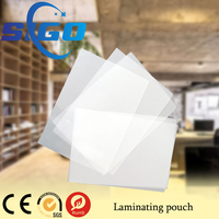 SIGO Thermal lamination transparent Holographic Pouches,films for documents,cards