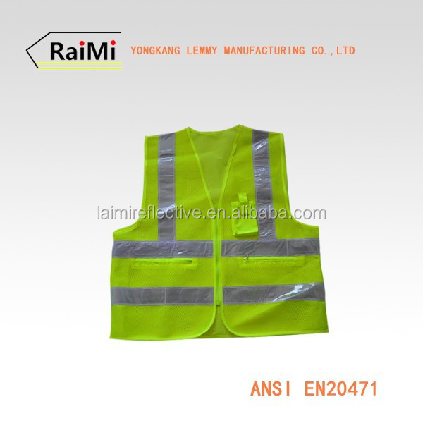 OEM highly visibile high quality reflective mesh safety vest real work wear