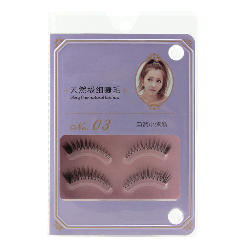 2017 New Style Janpan And Korea Silk Lashes With Eyelash Packaging NOO3