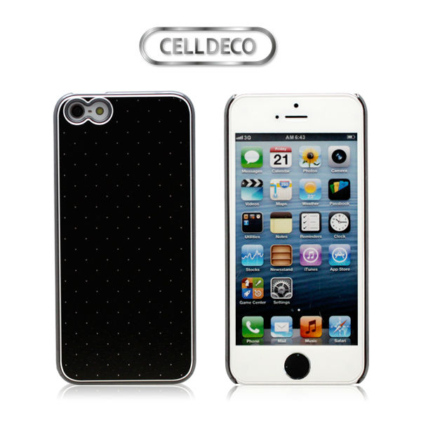 Decorated real aluminum phone cover for iphone5