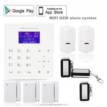 LCD dispaly APP push+call alarm+SMS alarm alibaba francais water leak detector wireless home perimeter alarm system