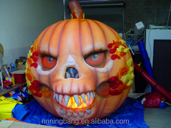 NB With LED Customized inflatable Halloween Pumpkin for promotion