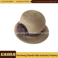 Wholesale china merchandise paper straw hat for girls