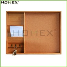 Cork notice board with key holder /letter holder Homex-BSCI